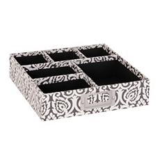 Black & White Damask Organizer Tray at Kirkland's