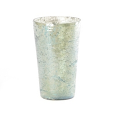 Pompeii Green Glass Crackle Vase at Kirkland's