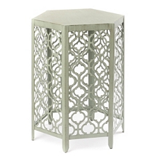 Pale Green Metal Barrel Accent Table at Kirkland's