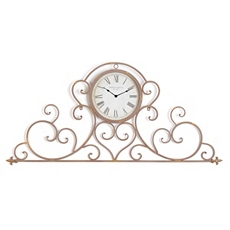 Bella Gold Scroll Clock at Kirkland's