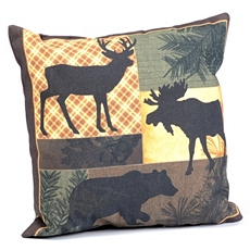 Forest Stroll Patchwork Outdoor Pillow at Kirkland's