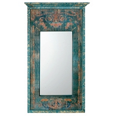 Olivia Blue Distressed Wall Mirror, 27x47 at Kirkland's