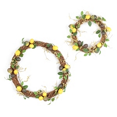 Lemon Woven Branch Wreath, Set of 2 at Kirkland's