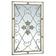 Fleur-de-Lis Mirror Wall Plaque at Kirkland's