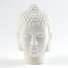 White Ceramic Buddha Statue at Kirkland's