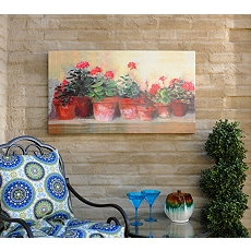 Kathleen's Geraniums Outdoor Canvas Art Print at Kirkland's
