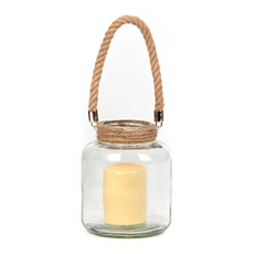 Clear Glass Lantern, 7 in. at Kirkland's