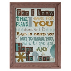 Plans Inspirational Framed Wall Plaque at Kirkland's