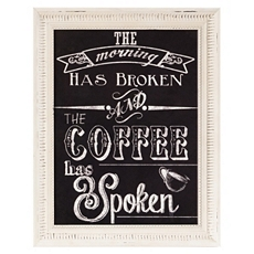 Coffee Has Spoken Framed Wall Plaque at Kirkland's