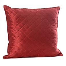 Crimson Red Quilted Diamond Pillow at Kirkland's