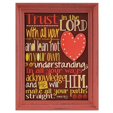 Trust In The Lord Framed Wall Plaque at Kirkland's