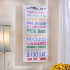 Classroom Rules Canvas Wall Plaque at Kirkland's