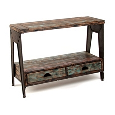 Rustic Work Horse Console Table at Kirkland's