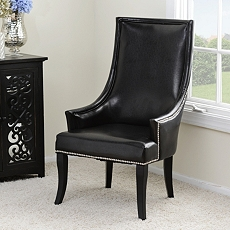 Black Faux Leather Chatham Chair at Kirkland's