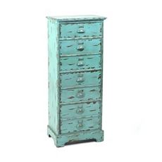 Distressed Blue Standing 4-Drawer Chest at Kirkland's
