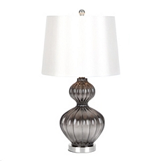 Gray Fluted Glass Table Lamp at Kirkland's