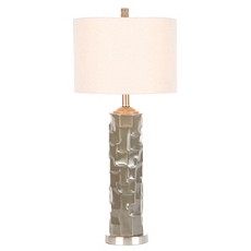 Taupe Gray Retro Ceramic Table Lamp at Kirkland's