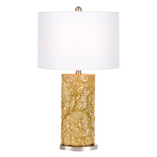 Harvest Leaf Gold Ceramic Table Lamp at Kirkland's