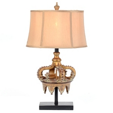 Antique Gold Crown Table Lamp at Kirkland's