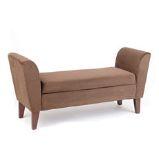 Bella Chocolate Upholstered Storage Bench at Kirkland's