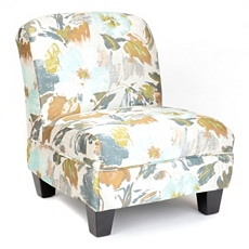 Blue Floral Print Slipper Chair at Kirkland's