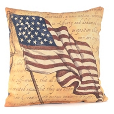 Patriotic Flag Outdoor Pillow at Kirkland's