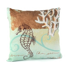 Colorful Seahorse Outdoor Pillow at Kirkland's