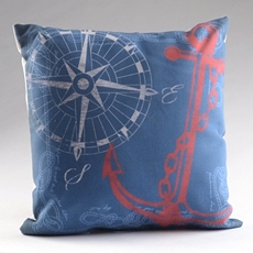 Anchors Away Reversible Pillow at Kirkland's