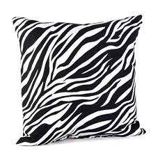 Zebra Print Black & White Pillow at Kirkland's