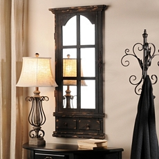 Bianca Distressed Black Wall Mirror, 24x46 at Kirkland's