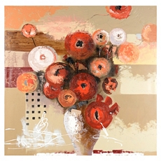 Flower Vase Abstract Canvas Art Print at Kirkland's