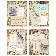 Postcard Greeting Canvas Art Print, Set of 4 at Kirkland's