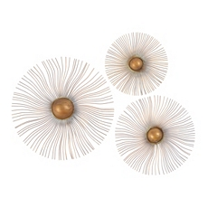 Sunburst Wall Medallion, Set of 3 at Kirkland's