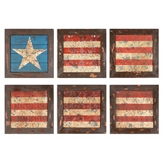 Glory American Flag Plaque, Set of 6 at Kirkland's