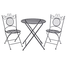 Black Bistro 3-pc. Folding Patio Set at Kirkland's
