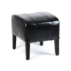 Black Leather Ottoman at Kirkland's