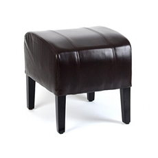 Brown Leather Ottoman at Kirkland's