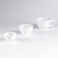 White Mini Mixing Bowl, Set of 3 at Kirkland's