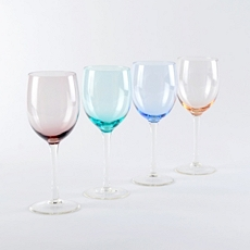 Colors of  Spring White Wine Glass, Set of 4 at Kirkland's