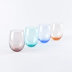 Colors of Spring Stemless Glass, Set of 4 at Kirkland's