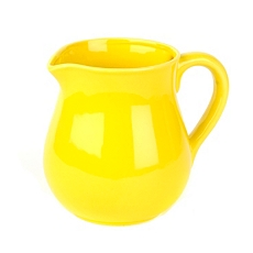 Sunny Yellow Ceramic Pitcher at Kirkland's