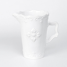 White Sweet Olive Ceramic Pitcher at Kirkland's