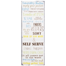 Laundry Rules Canvas Wall Plaque at Kirkland's