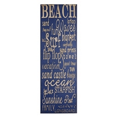 Beach Canvas Wall Plaque at Kirkland's