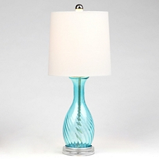 Blue Glass Teardrop Table Lamp at Kirkland's