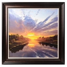 Sunset Lake Framed Art Print at Kirkland's