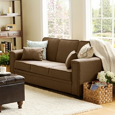 Francis Serta Brown Convertible Sofa at Kirkland's