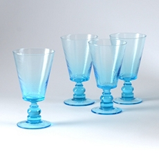 Aqua Milano Goblet, Set of 4 at Kirkland's