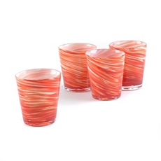 Twirlin' Red Rocks Glass, Set of 4 at Kirkland's