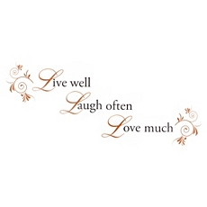 Live Laugh Love Wall Decal at Kirkland's